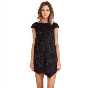 Line & Dot | Uma Shift Mini Dress in Black